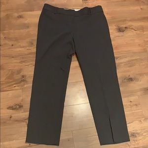 Loft gray Marisa straight pants